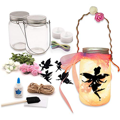 Thanksgiving Craft Projects (Alritz Fairy Lantern Craft Kit for Kids, DIY FairyJar Night Lights Craft Projects Party Centerpiece Birthday Gift for)