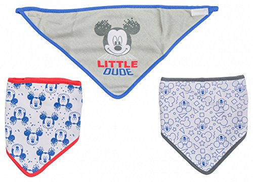 Disney Mickey Mouse 3 Piece Bandana Bibs, Little Dude