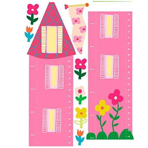 (Wallies Wall Decals, Princess Growth Chart Wall Sticker, 12-3/4-inch x 52-5/8-inch)