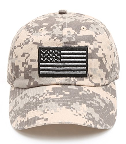 MIRMARU Tactical Operator USA Flag Cotton Low Profile Cap with Adjustable Strap - Day Hat Independence