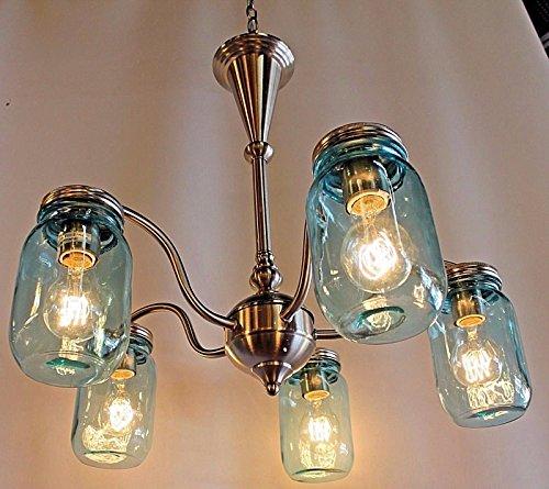 mason jars chandelier - 7