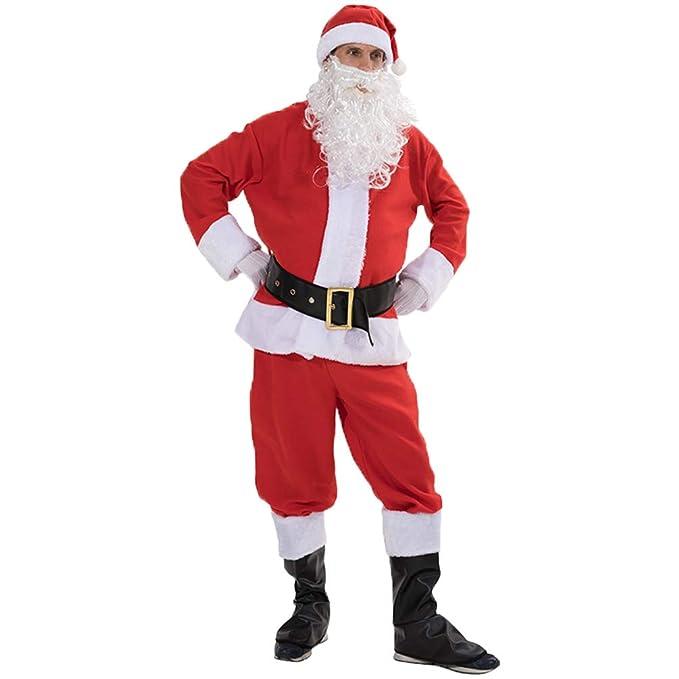 Kaiyei Disfraz de Papa Noel Adulto - Hombre Mujer Navidad Disfraz ...