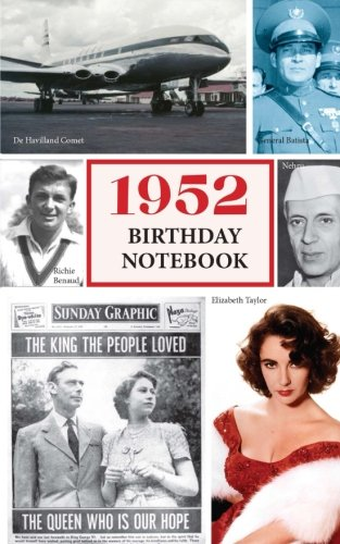 1952 Birthday Notebook: a great alternative to a birthday