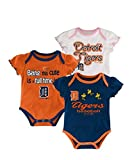 Genuine Merchandise Detroit Tigers Baby Girls Infant Creeper 3-piece Set - 6/9 month