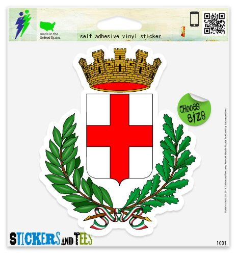 Milano Coat - Milan Italy Milano Coat Of Arms Vinyl Car Bumper Window Sticker 3
