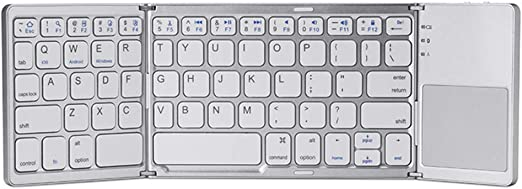 Soldmore7 Teclado Bluetooth Plegable con Touchpad Ultraplano ...