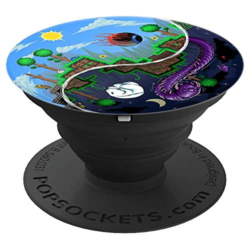 Terraria Night and Day - PopSockets Grip and Stand for Phones and Tablets -