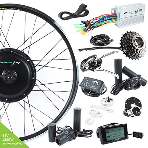 EBIKELING 48V 1200W 700C Direct Drive Rear Electric Bicycle Conversion Kit (Rear/LCD/Twist)