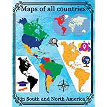 Maps of all countries in North and South America