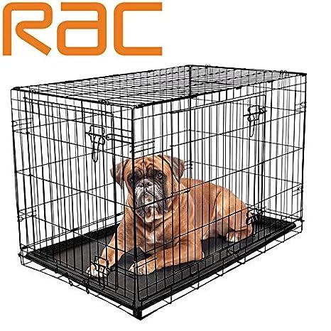 Jaula Plegable para Cachorros de Perro, 2 Puertas, con Bandeja de ...