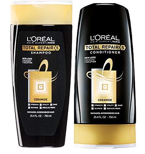 (L'Oreal Paris Advanced Total Repair 5 Shampoo and Conditioner Set, 25.4 Ounce each)