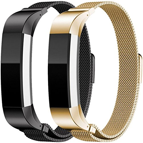 For Fitbit Alta HR and Alta Bands, Humenn Replacement Milanese Loop Stainless Steel Metal Bands For Fitbit Alta HR/ Alta