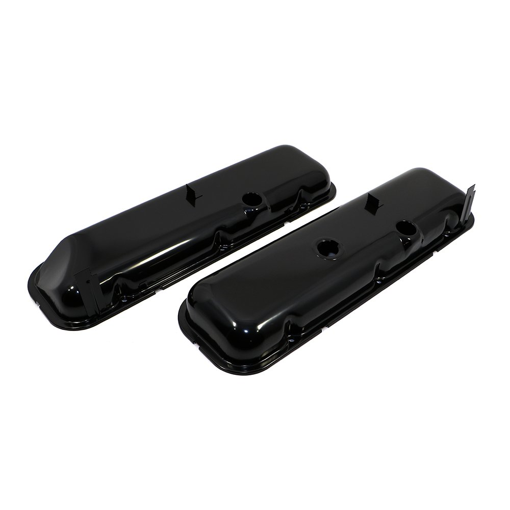 Assault Racing Products A9504 Big Block Chevy Chrome Steel Short Valve Covers Power Brake Recess BBC 396 427 454