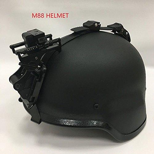 NVG Rhino pantalla plana para rápido MICH M88 casco táctico gafas de visión nocturna Flip Up Kit de montaje para psv-7 psv-14, M88-Black: Amazon.es: ...