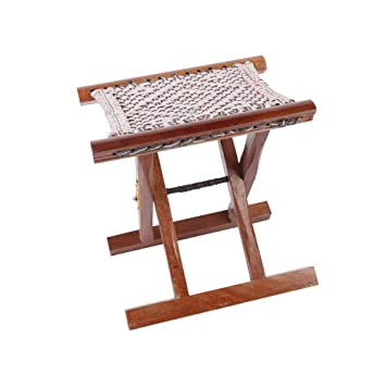 Tremendous Amazon Com Qidi Painting Stool Folding Chairs Wooden Bench Bralicious Painted Fabric Chair Ideas Braliciousco