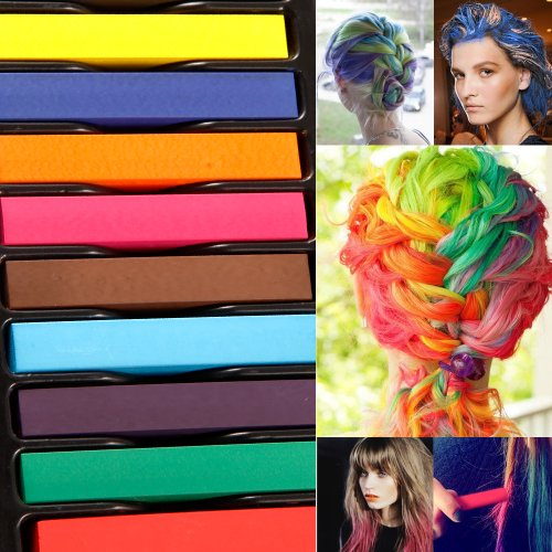12 Color DIY Hair Chalk Temporary Hair Color Pastel Hair Dye Set Non-toxic by Surepromise