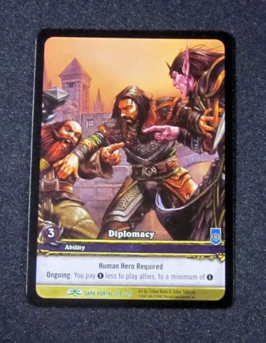 (8) World of Warcraft WoW TCG Diplomacy Dark Portal Promo Extended Art Uncommon (Warcraft Tcg Dark Portal)