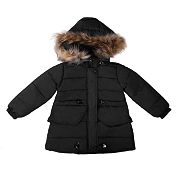 : Kintaz Little Girls' Winter Parka Down Coat