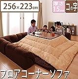 U-shaped type Rug 256 cm × 223 cm with Cushion Rug thickness 1.5 cm