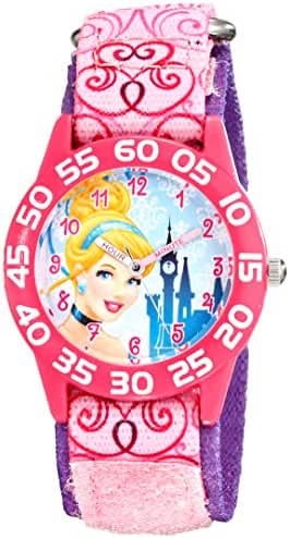 Disney Kids' W001671 Cinderella Analog Display Analog Quartz Pink Watch