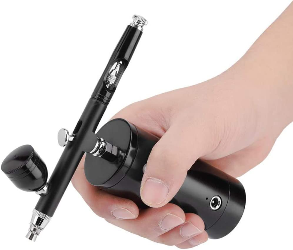 YOUKUKE Airbrush Kit,Mini Double-Action Auto Airbrush Professional Cordless Airbrush Set,USB Rechargeable Airbrush with Air Compressor for Makeup,Art Nail,Painting,Tattoo,Model Coloring