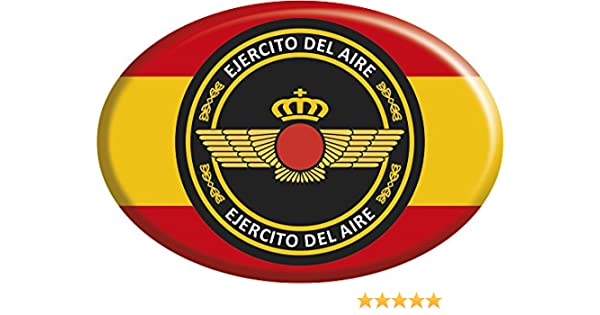 Artimagen Pegatina Oval Bandera España con círculo Ejército del ...