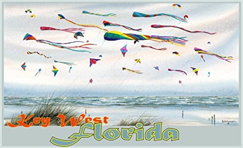 Northwest Art Mall BA-5616 FLK Key West Florida Flying Kites Print by Artist Dave Bartholet, 11