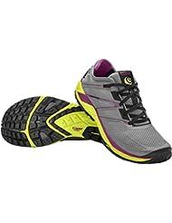 TOPO Womens Runventure 2 Trail Running Shoe, Grey/Yellow, Size 10