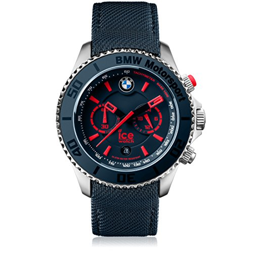 Ice-Watch - BMW Motorsport (Steel) Blue Red - Men's Wristwatch with Leather Strap - Chrono - 001122 (Large)