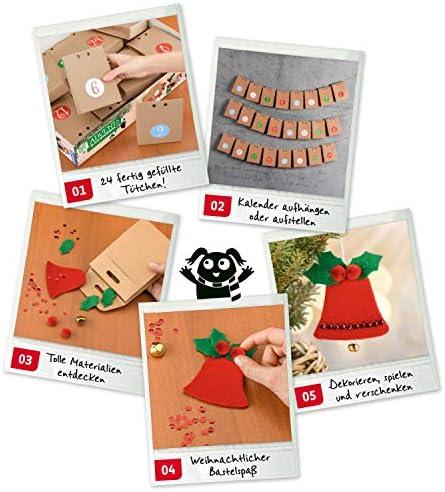 KOSMOS AllesKönnerKiste Bastel-Adventskalender, Weihnachts-Basteln für die ganze Familie, kreative kleine Geschenke und Deko für Kinder und Erwachsene erstellen, DIY, ab 8 Jahre