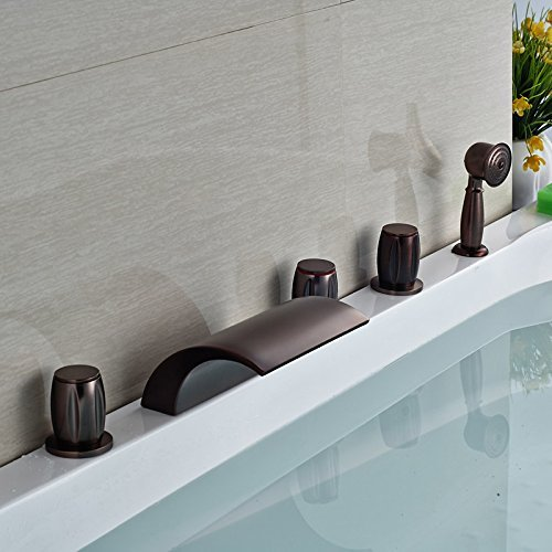 - Good quality 5 heads of Mount Bridge glass waterfall oil rubbed bronze fillers three of the sleeves of hot tub mixer