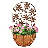 Deer Park Ironworks Floral Wall Planter with Coco liner