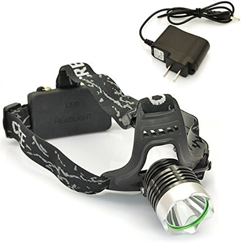 eBoTrade XML T6 LED Headlight Headlamp Torch Flashlight 1600lm + 2 x Rechargeable 18650 Battery, Waterproof Design