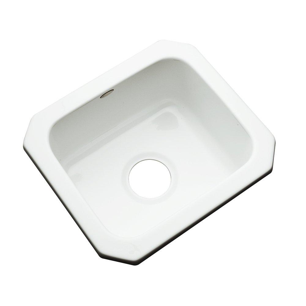Dekor Sinks 27000UM Duxbury Cast Acrylic Undermount Prep Sink, 16'', White