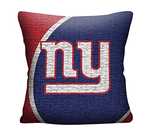 The Northwest Company Officially Licensed NFL New York Giants Portal Jacquard Pillow, 20