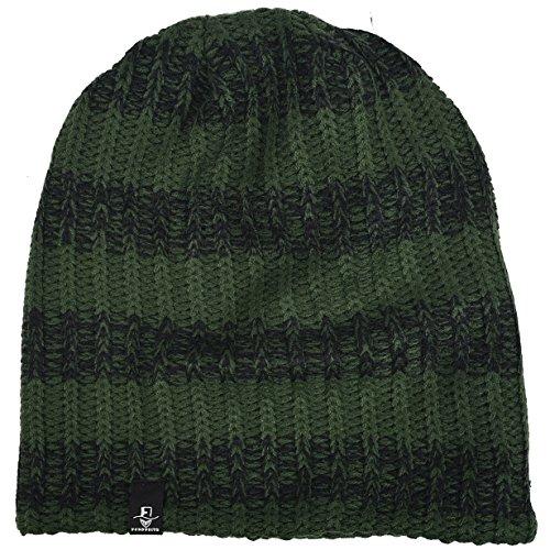 única de para de Gorro hombre holgado with punto clásico Black invierno Green Forest Talla xwI0zqdIY