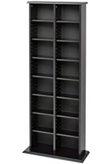 GT DVD Bookcase Media Storage CD Cabinet Rack Case Shelf Tower Book Disc  Tier Organizer Bedroom