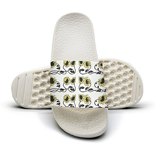 Sunflower Flowers Floral Beautiful woman popular Summer Sandals Slides Mules Slippers by Congjun