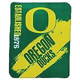 """NCAA Collegiate School Logo Fleece Blanket (Oregon Ducks, 50"""" x 60"""")"""