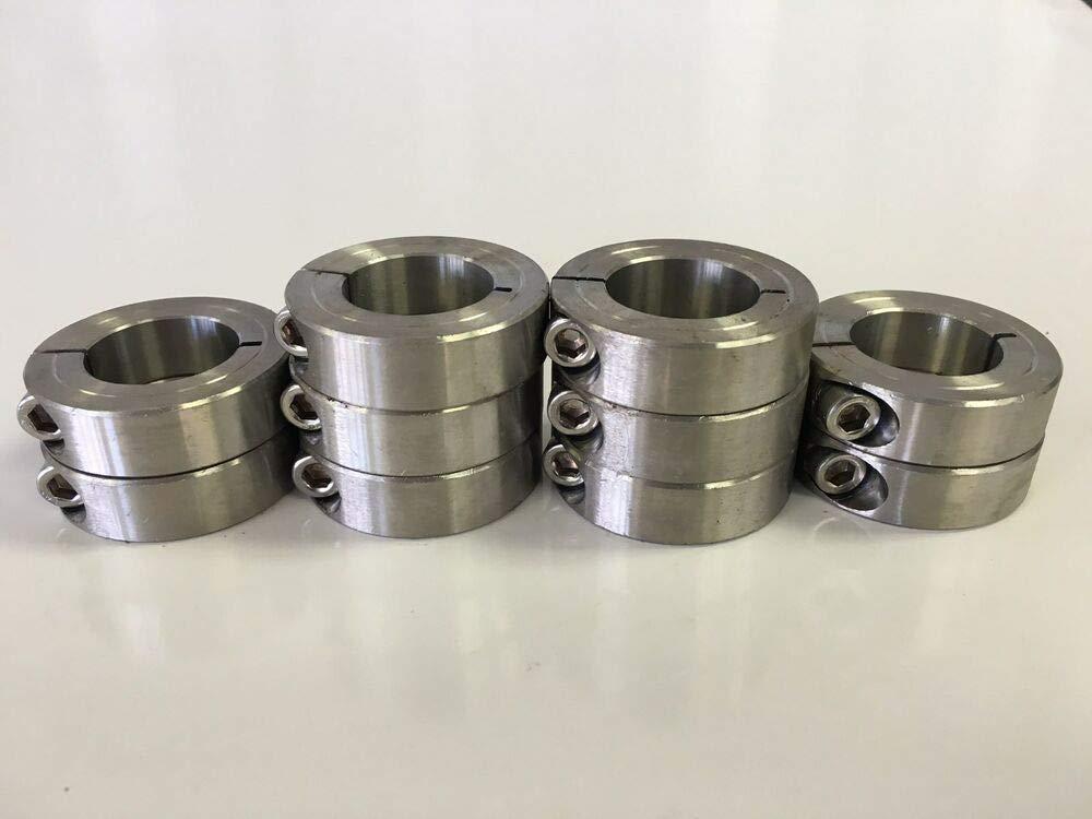 1/4'' Inch Stainless Steel Single Split Shaft Collar - 1SSC-025 (10pcs) by IM VERA