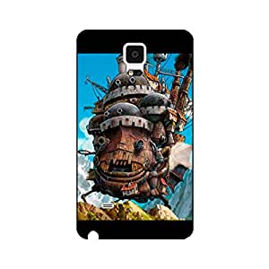 Samsung Galaxy Note 4 Howl's Moving Castle Phone Cover Case,Hot Popular Japanese Animated Movie Howl's Moving Castle Delicate Hard Phone Case for Samsung Galaxy Note 4