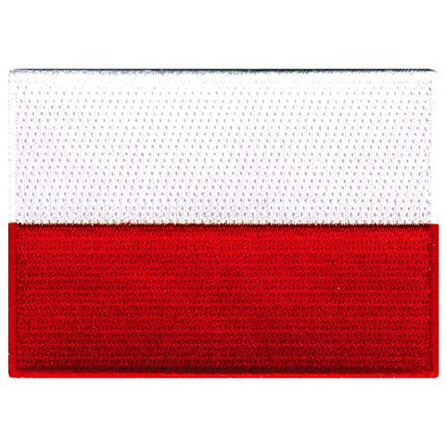 Poland Flag Embroidered Patch Polish Iron-On Polska National Emblem