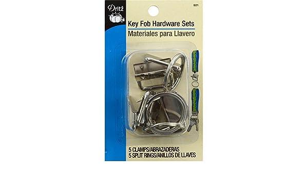 Amazon.com: Dritz Key Fob Hardware Sets Bonus Pack, Silver ...