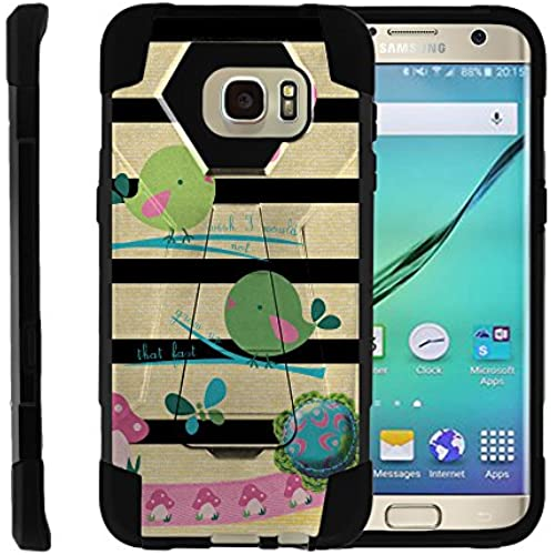 Samsung Galaxy S7 Edge, Full Body Fusion SHOCK Impact Kickstand Case with Exclusive Illustrations by Miniturtle - Colorful Birds Sales