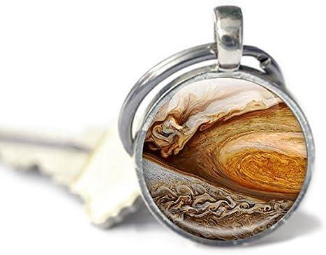 Jupiter Photo Keychain Plan/ète Jupiter Jupiter porte-cl/és