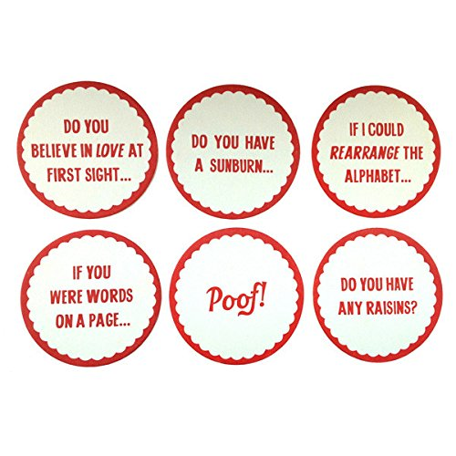Izola Double Sided Heavy Duty Paperboard Party Décor Coaster Set - Pick Up Lines Set - Paper Pickup Board