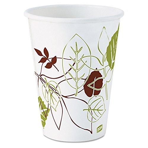 Dixie Pathways Hot Cup - 12oz - 1000 / Carton - Paper - White