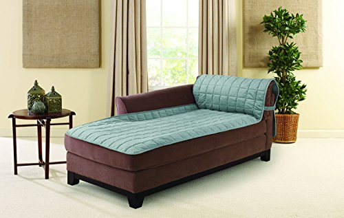 Sure Fit Deluxe Armless Chaise Cover - Mist (SF44726)