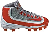 Nike Kids Huarache 2KFilth Pro Mid MCS Baseball Cleats(Wolf Grey/White/Univ Red, Size 2 Little Kid M)