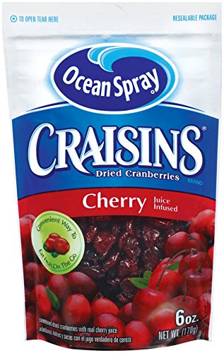 - Ocean Spray 6-oz. Cherry Craisins (Dried Cranberries), - 1 Pack